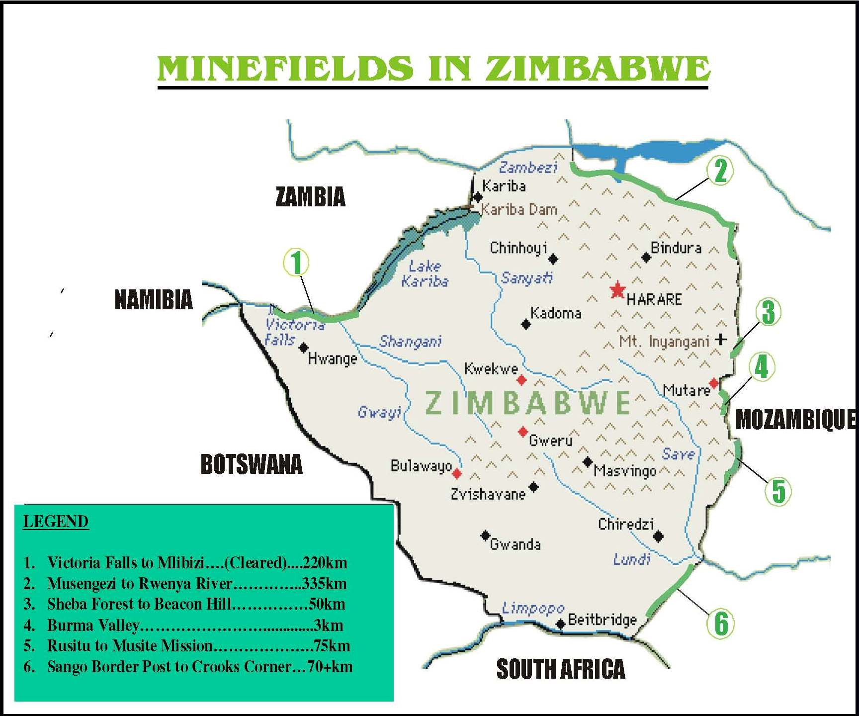 Landmine And Cluster Munition Monitor - Us minefield map